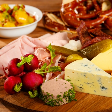 German Cold Cuts and Cheese Platter